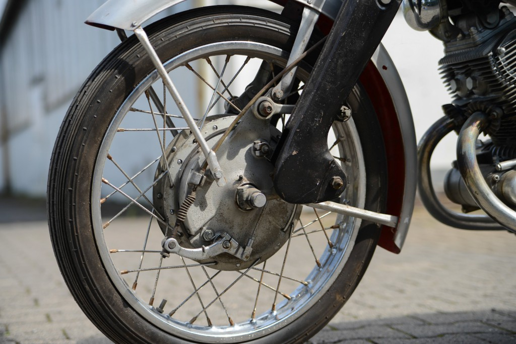 Duplex-Bremse der Honda CB 92