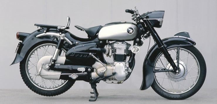 """Unter der Bezeichnung """"Dream"""" produzierte Soichiro Honda unzählige Motorräder"""