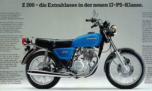Kawasaki Z 200 Prospekt
