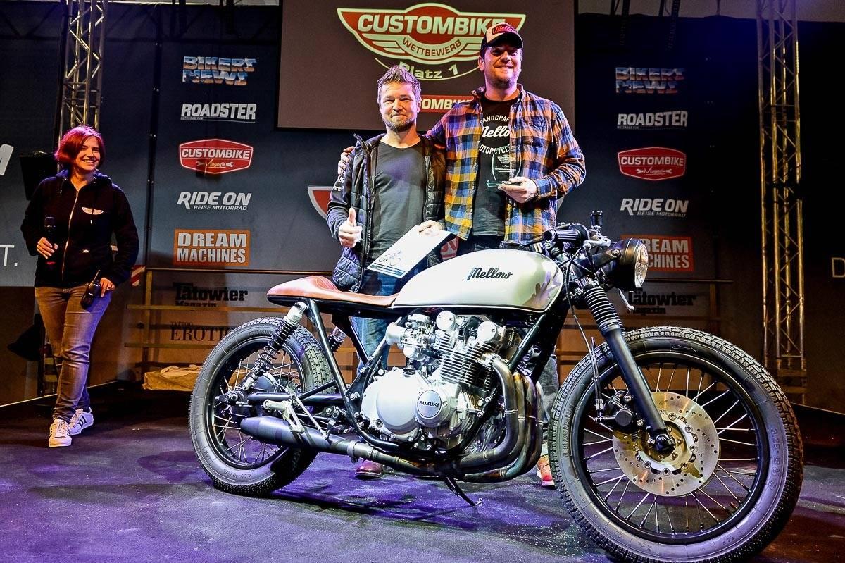 Neuer Besucherrekord Auf Der Custombike Show 2016 Motorcycle Suzuki Gs Custom Leserwettbewerb Platz 1 550 Von Mellow Motorcycles Quelle Huber Verlag